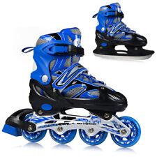 2in1 Inline Skates Schlittschuhe ABEC7 Einstellbare Größe 31-42 Mädchen Junge