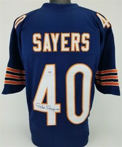 Gale Sayers Signed Chicago Bears Jersey (PSA COA) 4×Pro Bowl RB 1965–1967,1969