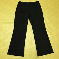 The Limited Women's Cassidy Fit Black With White Stripes Pants Size 6 Pockets