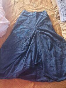 GRINGO fair trade HIPPY boho BALLOON parachute EMBROIDERED long COTTON skirt