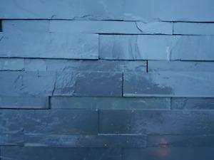 Black slate Splitface Tiles  drystack walling priced per m2