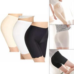 3x Ladies Safety Boxer Shorts Cotton Anti Chafing Long Leg Knickers Underwear UK