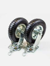 8 Inch Swivel Lock Nylon Pneumatic Casters 430lb Capacity Set Of 2