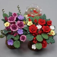 Puppenhaus Puppenstube Blume Blumentopf 1:12~