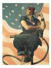 "Norman Rockwell print ""ROSIE THE RIVETER"" 11x15"" or 8x10"" WWII WW2 Working Women"