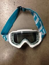 SCOTT HUSTLE MX GOGGLES WHITE GOGGLE WITH TEAR OFF PINS CLEAR LENS YFZ450