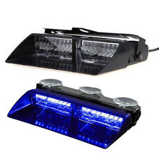 Car 16 LED Blue Police Strobe Flash Light Dash Emergency Flashing Light