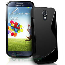 Pellicola+Custodia Wave semi lucida p Samsung Galaxy S4 Value Edition i9515 NERO