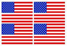 4pcs American Stars & Stripes BANDIERA USA vinile auto moto adesivo 90x60mm ogni