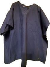 "Landau Scrub Top size 3Xl-V-Neck Classic-Navy Blue Chest 31""/Length 30.5"""