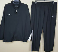 NIKE DRI-FIT WOVEN TRAINING TRACK SUIT JACKET + PANTS BLACK RARE NEW (SIZE 4XL)