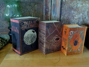 Halloween Nesting Stacking Boxes Books Tales of Halloween Scary Stories Set of 3