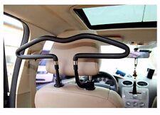 Black Rubber Car Seat Headrest Jacket Coat Suit Clothes Hanger Holder Rack shelf