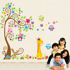 Lovely Owl Animal Wall Stickers LionJungle Zoo Tree Nursery Baby Kids Room Decal