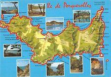 BT9849 Ile de porquerolles cote d azur map cartes geographiques          France