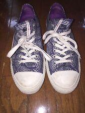 Women's All Star Converse blue silver purple marimekko tennis shoes sneakers 11
