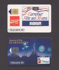 Coca-Cola and Disney Phonecards Coke France telecarte 1990s phone cards