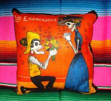 Day Of The Dead Calaveras The Promise Fabric Pillow Dia De Los Muertos # 2