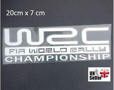 WRC FIA World Rally Championship Sticker Car Decal Badge Emblem White 20x7cm UK