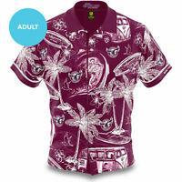 Manly Sea Eagles NRL 2020 Hawaiian Shirt Button Up Polo T Shirt Sizes S-5XL!