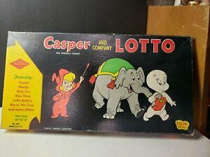 VINTAGE CASPER THE FRIENDLY GHOST CASPER AND CO LOTTO GAME AMAZING GRAPHICS