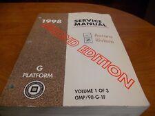 1998 OLDSMOBILE AURORA BUICK RIVIERA Service Shop Repair Manual V1