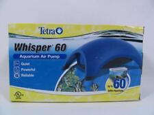 NEW TETRA WHISPER 60 AQUARIUM AIR PUMP 77849-916 QUIET POWERFUL 60 GALLON