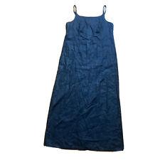GAP Women's Linen Long Maxi Dress Back Slit Size 10 (FLAWED)
