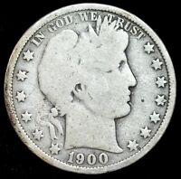 1900 O Barber Half Dollar, Good Condition, Slightly bent, Free Shipping, C3989