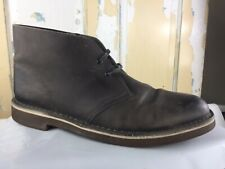 CLARKS Gray Leather Desert Ankle Boots Men's Size 10.5 M