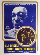 """""""GLI ANGELI DALLE MANI BENDATE""""Affiche originale italienne entoilée Muhammad ALI"""