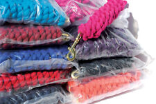 Trade Pack of 10 Cotton Horse/Dog Lead Ropes - Trigger Clip Plain & twin colours