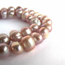 14 inch/ 36cm strand of mauve dusty pink 7mm-8mm potato freshwater pearl beads