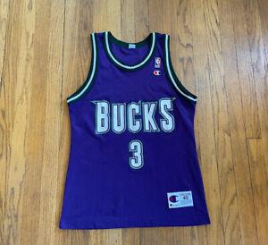Milwaukee Bucks Vintage 90's Shawn Respert Champion Jersey 40 Medium EUC NBA