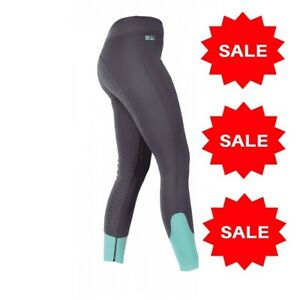 Bridleway Rumi Ladies Jodhpurs Fleece Lined Riding Tights Grip Large 14-16