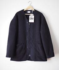 Engineered Garments Uniqlo Collarless Coat Fleece Oversized Men's Size M Navy