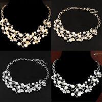 Fashion Womens Chain Statement Chunky Collar Pendant Choker Bib Necklace  Gift