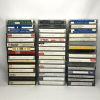 Lot 46 Cassette Tapes Pre-recorded Used Blanks MAXELL TDK High Metal Bias MX XL