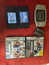 Nintendo DS Lite Handheld Console Black and Gameboy Advance No Cover Bundle