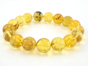 Dominican Amber Bracelet Beads Natural Gemstone Authentic 12.71 mm (19.2 g) a81