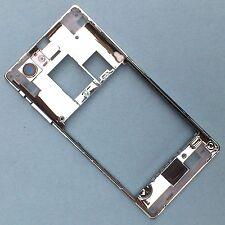 100%Genuine Sony Xperia J ST26i side edge bezel+camera glass+buttons rear silver