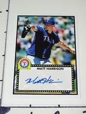 Matt Harrison: 2011 Topps Lineage '52V Autograph - Texas Rangers / Durham NC NM+