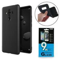 Silikon Tasche Case Hülle Handy Bumper Cover Schwarz für Samsung + PANZERFOLIE