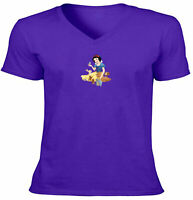 Snow White and the Animals Classic Disney Unisex Tee V-Neck T-Shirt Sz S~2XL