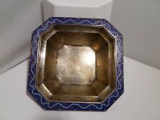 R. Blackinton & Co. Sterling Silver Blue Enamel Square Tray #7692 121.4 Grams