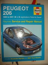 Haynes Workshop Manual Peugeot 206 98-01 S-X reg Petrol & Diesel (3757) 206 Van