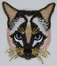 Household Cat: Sequin and Embroidery Patch (M382)