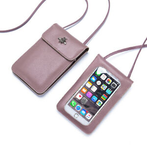 Genuine Leather Touch Screen Phone Bag Women's Cellphone Crossbody shoulder bag