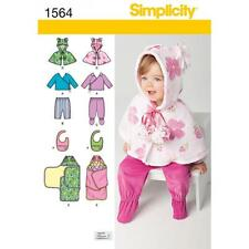 SIMPLICITY SEWING PATTERN BABIES TOP PANTS BIB BLANKET WRAP  1564