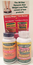 1 Skinny Magic 30 +1 Zero Appetite Carb Blocker 90 Count Weight Loss Diet Pills